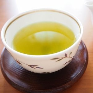 picture: a cup of japanese hot green tea