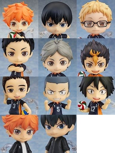 picture: product images of karasuno high school nendoroid figures