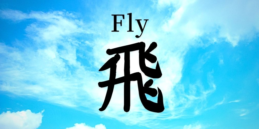 japanse kanji symbol that stands for fly